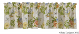 Park Designs Wildflower Scalloped Valance