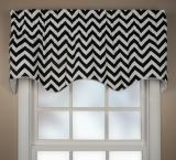 Ellis Curtain Reston Scallop Valance- 6 Colors