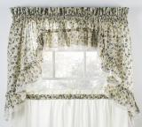 Ellis Curtain Clarice Ruffled Swag - 3 Colors
