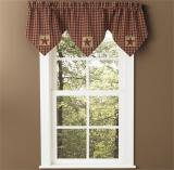 Park Designs Sturbridge Patch Lined Triple Point Valance-2 Colors