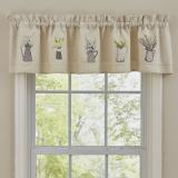 Park Designs Pitcher with Flowers Lined Valance